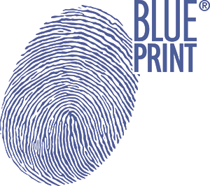 Blue Print logo on white